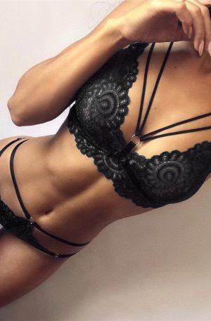 Set bikini si sutien sexy, negru