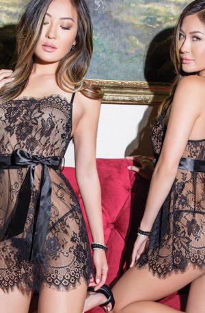 Camasa de noapte sexy transparenta