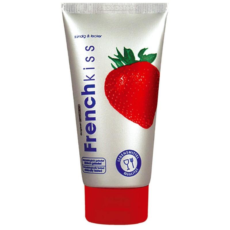 Frenchkiss Erdbeer lubrifiant pentru sex oral cu aroma de capsuni, 75 ml