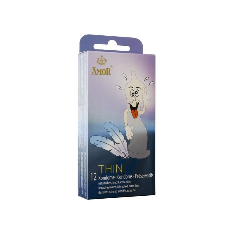 Prezervative AMOR Thin / 12 buc in cutie